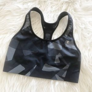 Champion Sports Bra Black Camouflage Size Medium